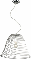 Trans Globe PND-983 Tangled Contemporary Polished Chrome Hanging Pendant Light