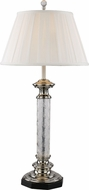 Trans Globe RTL-8818 Etched Brushed Nickel Side Table Lamp