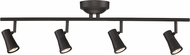 Trans Globe W-924-ROB Robbins Contemporary Rubbed Oil Bronze LED 4-Light Track Lighting Fixture