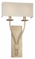 Troy B2462SL Palladium Silver Leaf Finish 21  Tall Wall Lamp