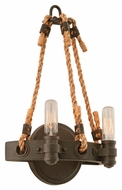 Troy B3122 Pike Place Shipyard Bronze Finish 9  Wide Wall Lighting Fixture