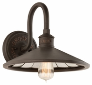 Troy B3142 Brooklyn Brooklyn Bronze Finish 9.75  Tall Wall Sconce
