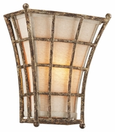 Troy B3781 Left Bank Coastal Rust Finish 10  Wide Wall Lamp