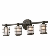 Troy B3844 Mercantile Vintage Bronze Finish 26.75  Wide 4-Light Bath Lighting