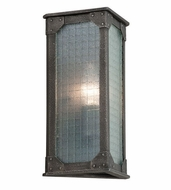 Troy B3871 Hoboken Retro Aged Pewter Finish 11.5 Tall Outdoor Wall Light Fixture