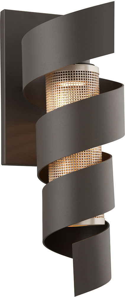 Troy B4265 Vortex Contemporary Solid Aluminum LED Outdoor Wall Sconce - TRO-B4265