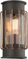 Troy B4661 Cabot Vintage Aluminum With Brass Accents Exterior Wall Light Sconce