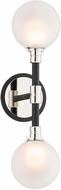 Troy B4822 Andromeda Carbide Black And Polished Nickel Halogen Wall Sconce