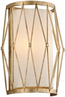 Troy B4862 Calliope Contemporary Rustic Gold Leaf Light Sconce