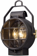Troy B5031 Point Lookout Nautical Aged Silver With Polished Brass Accents Outdoor Lighting Sconce
