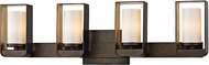 Troy B5704 Escape Modern Bronze w/ Gold Leaf Accent LED 4-Light Bath Lighting Fixture