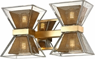 Troy B5802 Expression Modern Gold Leaf LED 2-Light Bathroom Light Fixture