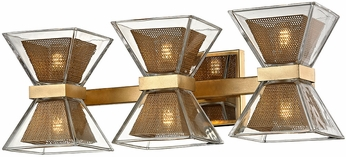 Troy B5803 Expression Contemporary Gold Leaf LED 3-Light Bathroom Vanity Lighting
