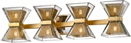 Troy B5804 Expression Modern Gold Leaf LED 4-Light Bathroom Vanity Light