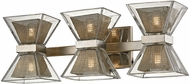 Troy B5813 Expression Contemporary Silver Leaf LED 3-Light Bath Sconce