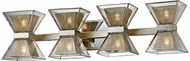 Troy B5814 Expression Modern Silver Leaf LED 4-Light Vanity Light Fixture