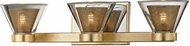 Troy B5823 Wink Contemporary Gold Leaf LED 3-Light Bathroom Vanity Light Fixture