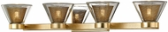 Troy B5824 Wink Modern Gold Leaf LED 4-Light Bathroom Wall Sconce
