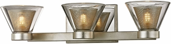 Troy B5833 Wink Contemporary Silver Leaf LED 3-Light Bathroom Light Sconce
