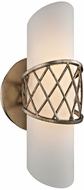 Troy B5871 Hideaway Contemporary Champagne Leaf LED Lighting Wall Sconce