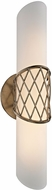 Troy B5872 Hideaway Modern Champagne Leaf LED Wall Lighting Sconce
