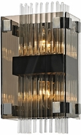 Troy B5902 Apollo Contemporary Dark Bronze Polished Chrome Wall Lighting Fixture