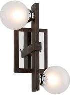 Troy B6072 Network Modern Forest Bronze And Polished Chrome Xenon Lighting Sconce