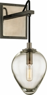 Troy B6201 Brixton Contemporary Graphite Light Sconce