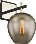 Troy B6211 Iliad Modern Carbide Black Polished Nickel Lighting Sconce