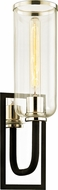 Troy B6271 Aeon Contemporary Carbide Black Polished Nickel Wall Lighting Sconce
