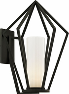 Troy B6343 Whitley Heights Contemporary Black Outdoor 17  Lamp Sconce