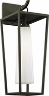 Troy B6352 Mission Beach Contemporary Black Outdoor 7.5  Wall Light Fixture
