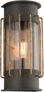 Troy BF4663 Cabot Retro Aluminum With Brass Accents Fluorescent Exterior Wall Sconce Lighting