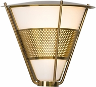 Troy BL4911 Rexford Historic Brass LED Exterior Small Wall Sconce Light