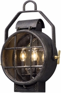 Troy BL5032 Point Lookout Nautical Aged Silver With Polished Brass Accents LED Exterior Lighting Wall Sconce