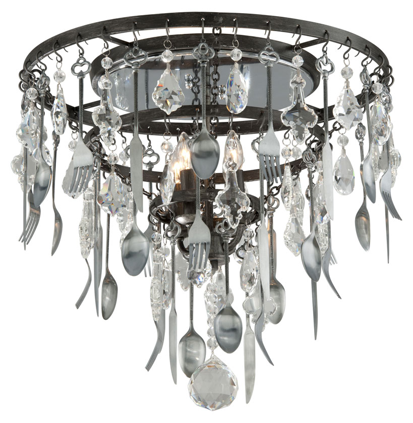 Troy c3800 bistro graphite finish with antique pewter flatware troy c3800 bistro graphite finish with antique pewter flatware 175nbsp tall ceiling light fixture loading zoom aloadofball Image collections