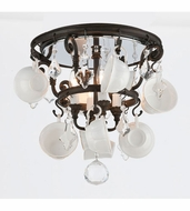 Troy C3820 Barista Contemporary Vintage Bronze Finish 17.5 Wide Ceiling Light