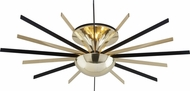 Troy C4253 Atomic Contemporary Polished Brass / Matte Black LED Ceiling Light