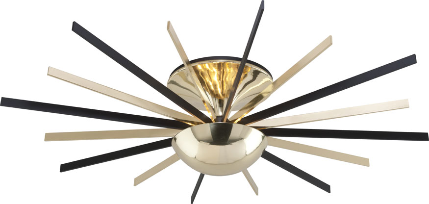 Troy c4254 atomic modern polished brass matte black led ceiling troy c4254 atomic modern polished brass matte black led ceiling light fixture loading zoom aloadofball Image collections