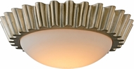 Troy C5921 Reese Contemporary Silver Leaf LED Flush Mount Lighting Fixture
