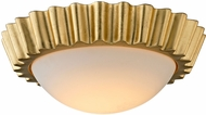 Troy C5930 Reese Modern Gold Leaf LED Flush Ceiling Light Fixture