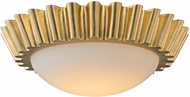 Troy C5931 Reese Contemporary Gold Leaf LED Flush Mount Ceiling Light Fixture