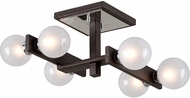 Troy C6070 Network Modern Forest Bronze And Polished Chrome Xenon Overhead Lighting Fixture