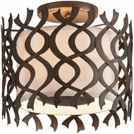 Troy C6100 Mai Tai Contemporary Cottage Bronze Ceiling Light Fixture