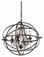 Troy F2995 Byron Vintage Bronze Finish 21  Tall Chandelier Light