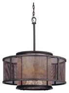 Troy F3105 Copper Mountain Old Silver Finish 26  Wide Drum Pendant Lamp