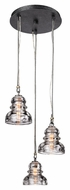 Troy F3133 Menlo Park Old Silver Finish 13.75  Wide Multi Hanging Light