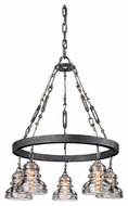 Troy F3135 Menlo Park Old Silver Finish 27.75  Tall Chandelier Lamp