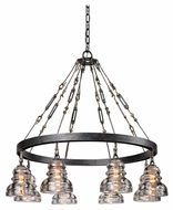 Troy F3136 Menlo Park Old Silver Finish 32.625  Wide Chandelier Light