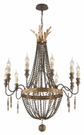 Troy F3536 Delacroix French Bronze Finish 40.5  Tall Candle Chandelier Light